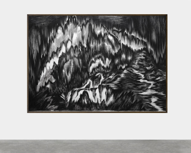 drawing, charcoal on paper, cca. 150x210 cm