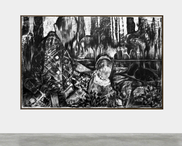 drawing, charcoal on paper, cca. 220x150 cm