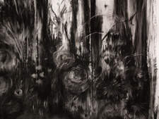 charcoal on paper - detail