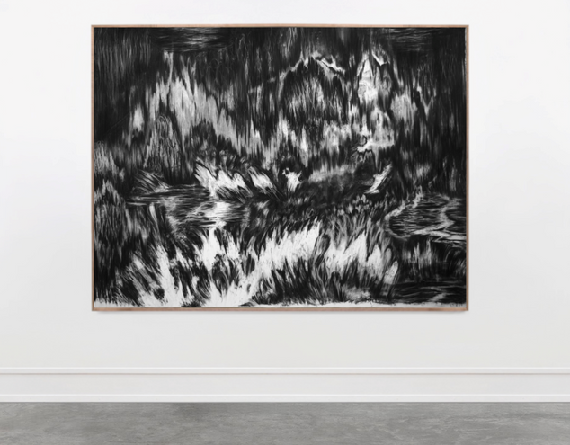 Drawing, charcoal on paper, cca.140x190 cm