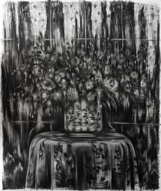 Drawing, charcoal on paper
