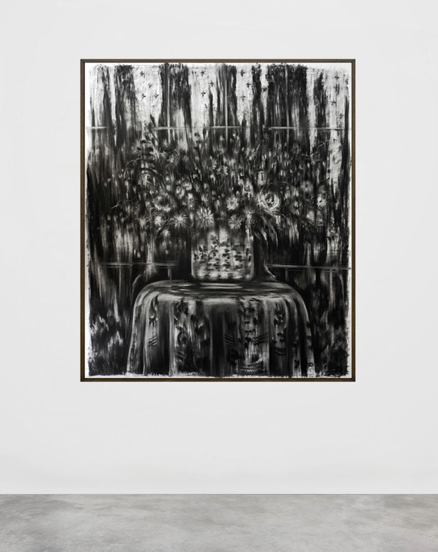 drawing, charcoal on paper, cca.125x150 cm