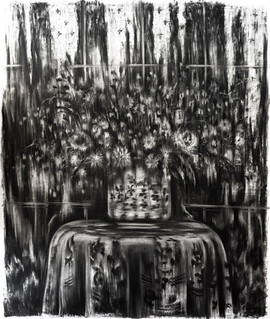 drawing, charcoal on paper, cca. 125x150 cm