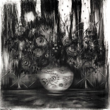 drawing, charcoal on paper, cca. 95x95 cm