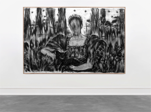 Drawing, charcoal on paper, cca. 150x220 cm