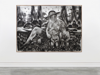 Drawing, charcoal on paper, cca.150x210 cm