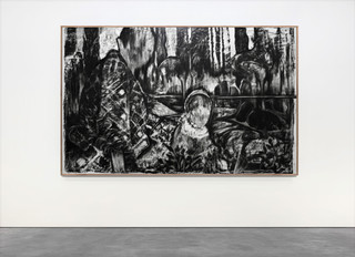 Drawing, charcoal on paper, cca. 150x200 cm
