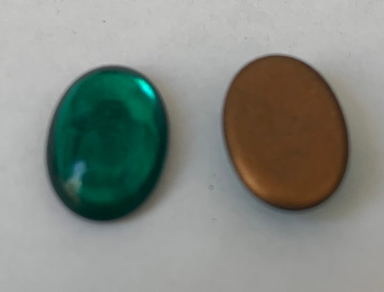 10x14mm Glass Oval Green