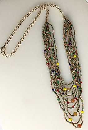 Multi Color layered Necklace