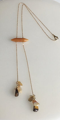 Semiprecious Drop Y Necklace