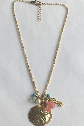 Aqua Cluster Neckalace