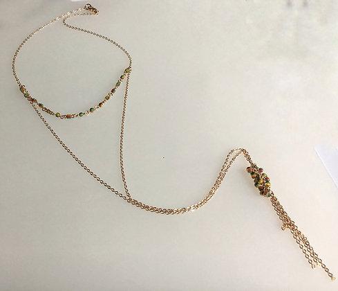 Multi Color Layer Necklace