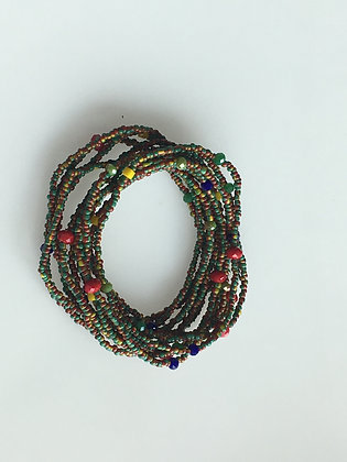 Multi Color Seed Bead Stretch Bracelet