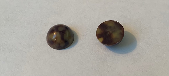 7mm Tan Marble acrylic Cabochon