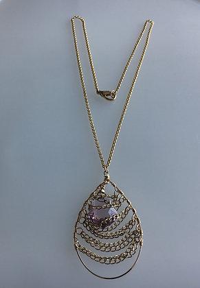 Amy Swarovski Crystal Baroque Pendant Necklace