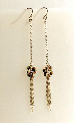 Seed Bead Tassle Earring
