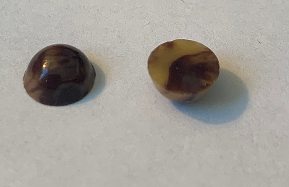 13mm Tan Marble acrylic Cabochon