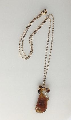 Semiprecious Cluster Pendant Necklace