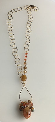 Open Link Chain Cluster Necklace