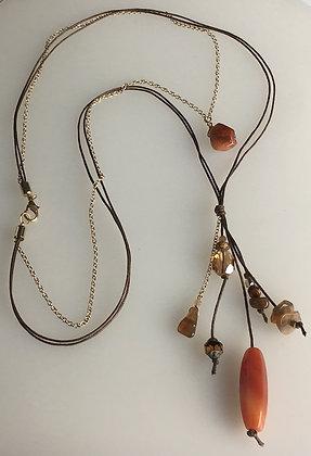 Multi Media Tassel Necklace