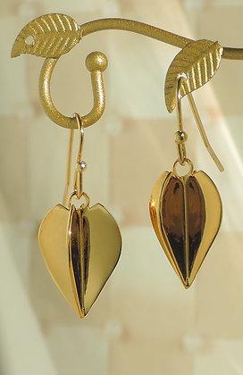 Gold-Plated Dart Flight Charm Earrings