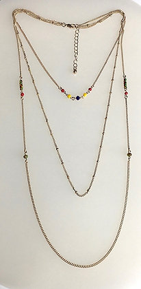 Multi Color Layer Necklace