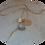 Thumbnail: Gold Plated 30'' Multi Charm Dart Pendant.