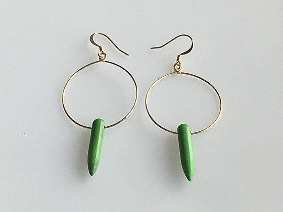 Gold-Plated Hoop Earring