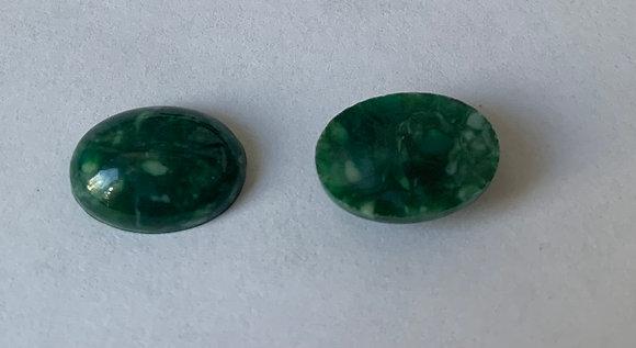 10X14MM Oval Acrylic Green
