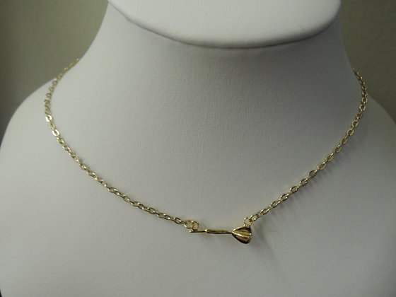 Gold Plated 15'' Mini Dart Charm Necklace