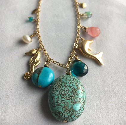 Sea Breeze Charm Neckalce