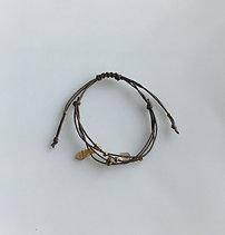 Beaded Wax Cored Pull-tie Bracelat