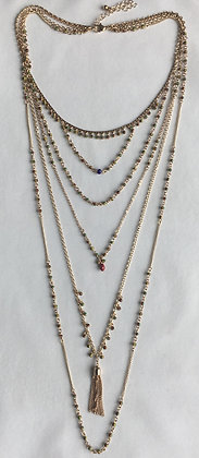 Layered Multi Color Necklace
