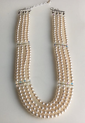 Multi Layer Glass Pearl Neckalce