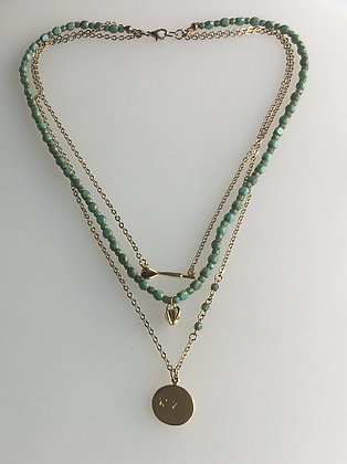 Layered Dart charm Necklace