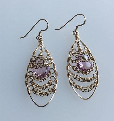 Amy Swarovski Crystal Baroque Drop Earring