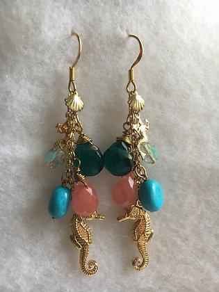 Aqua Cascade Earring