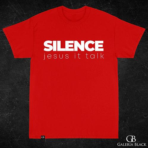 Camiseta Manga Curta Silence Vermelha