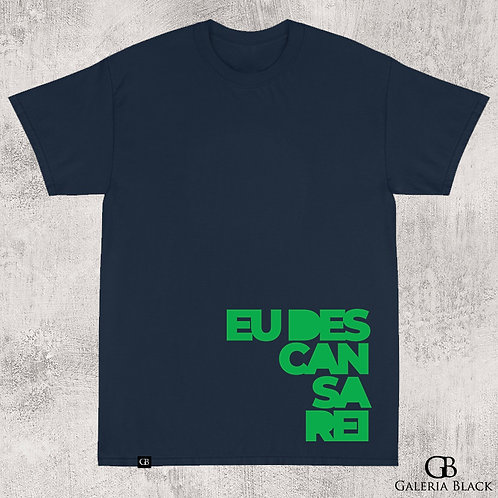 Camiseta Manga Curta Descansarei Azul