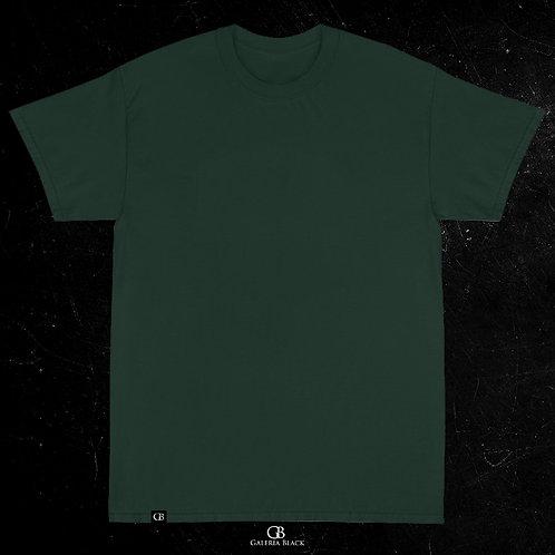 Camiseta Manga Curta Verde Folha