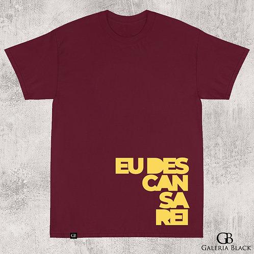 Camiseta Manga Curta Descansarei Vinho