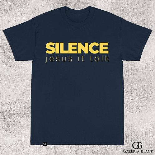 Camiseta Manga Curta Silence Azul Royal