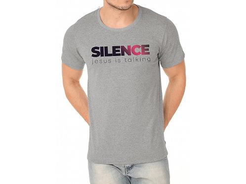 Camiseta Silence Cinza Mescla