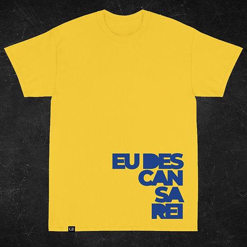 Camiseta Manga Curta Descansarei Amarela