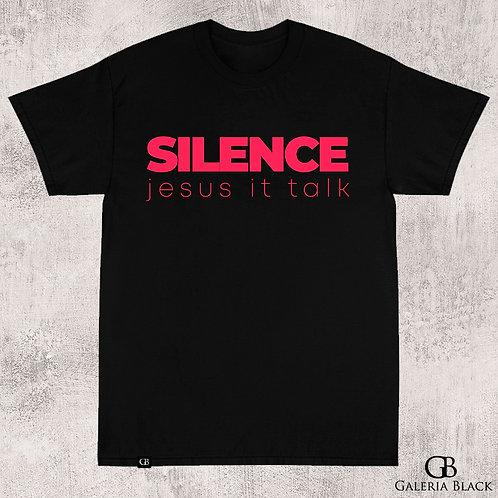 Camiseta Manga Curta Silence Preta