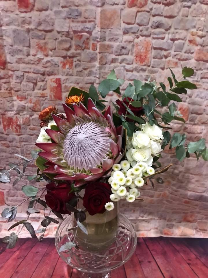 Buds n roses - protea's and roses bouqet