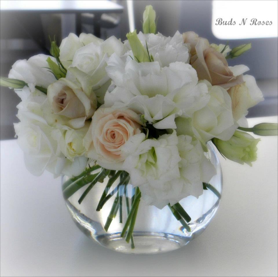 Wedding Reception Flowers by Buds