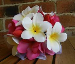 Frangipani wedding bouquet Melbourne