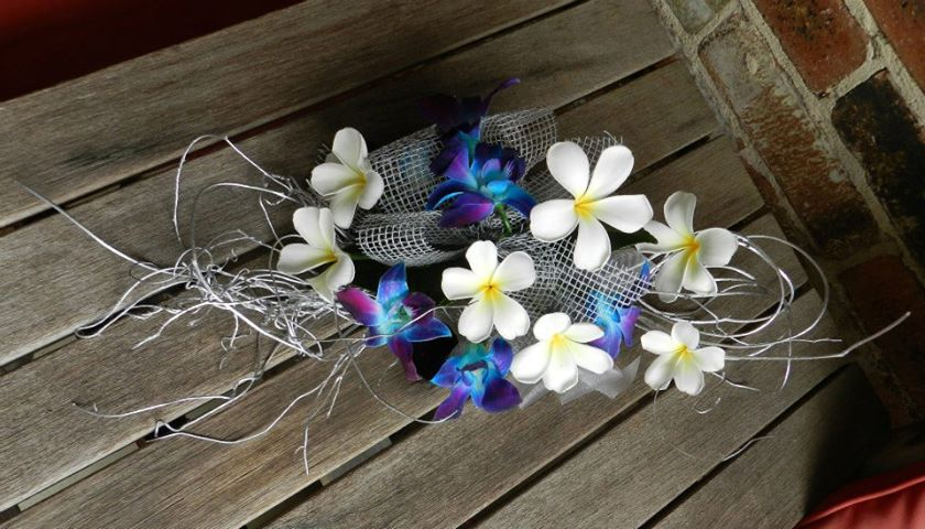 Frangipani wedding bouquet Melbourne