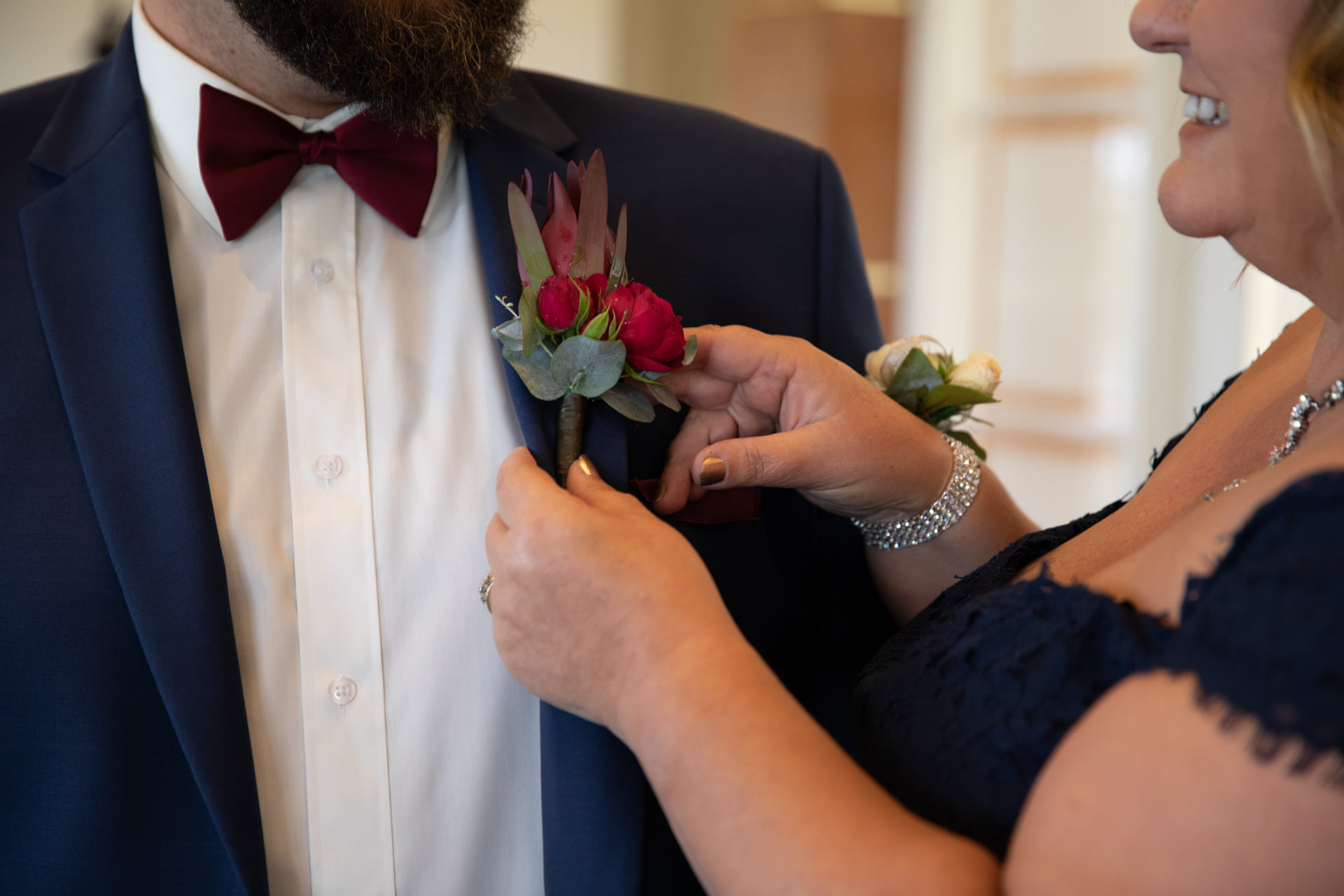 Buds n roses -Buttonholes native